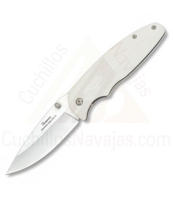 Coltello da tasca Albainox G10 bianco