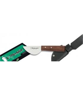coltello manico in legno, foglio di 5 cm.