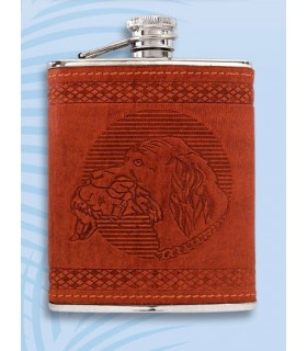 Flask decorato con un cane
